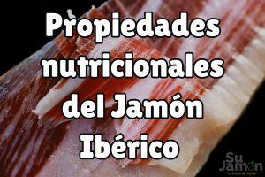 ¿Por qué el jamón ibérico es considerado un alimento de lujo? ¡Mira sus propiedades nutricionales!